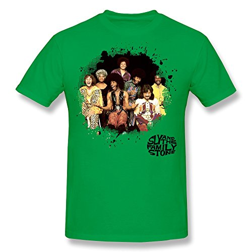 Price comparison product image Men's Sly And The Family Stone Poster O-neck Tshirts Size S ForestGreen