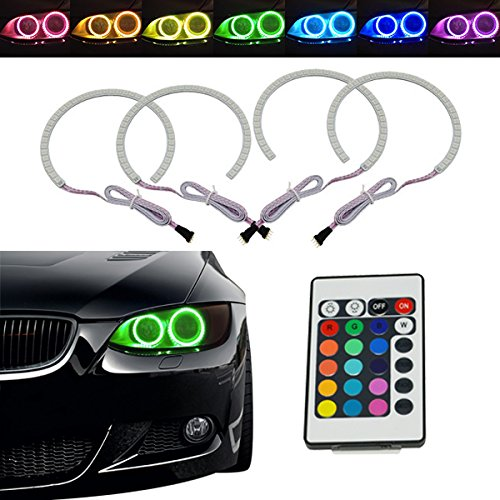 power-mall-rgb-multi-color-xenon-headlight-led-angel-eyes-for-bmw-e38-e39-e46-3-5-7-series