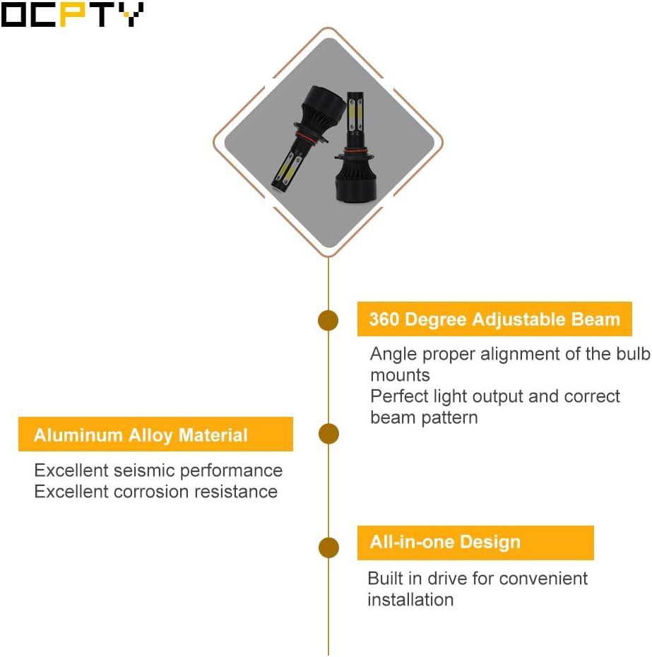 1 Year Warranty OCPTY 9005//HB3 LED Headlight Bulb 2pcs 80W 6000K 8000LM Hi//Lo Beam Conversion Kit LED Headlamp Super Brighter