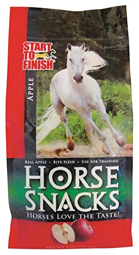 Manna Pro Start to Finish Horse Snacks, 5 Pounds, Made with Real Apples