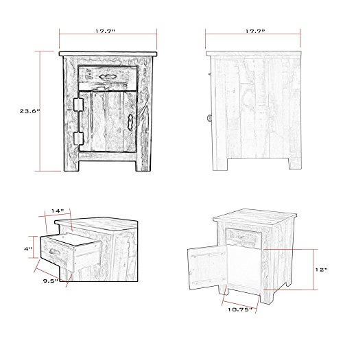 Reclaimed Accent Cabinet Solid Wood Distressed Color by The Beach House Design (Image #1)