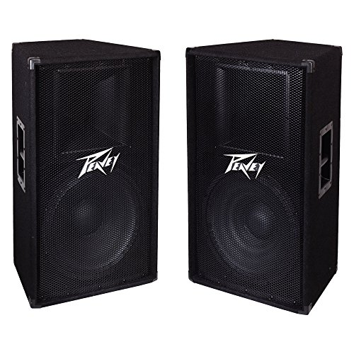 Peavey PV 115 2-Way 15'' 800W Active Pro DJ Live Sound Speaker System (2 Pack) by Peavey