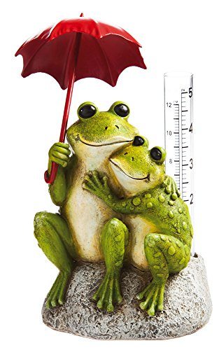 New Creative Frog Lovers Garden Statue with Rain Gauge by Evergreen Garden