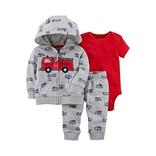 Carter's Baby Boys' 3 Piece Little Jacket Set 3 Months (Outfit Jacket Set)