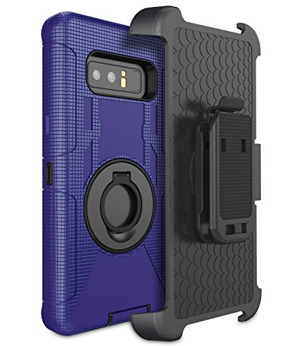 - UrbanDrama Galaxy Note 8 Case, Note 8 Case Belt Clip Holster Kickstand Heavy Duty Rugged Anti-Slip Shockproof Full Body Protective Case Compatible Samsung Galaxy Note 8, Black Blue