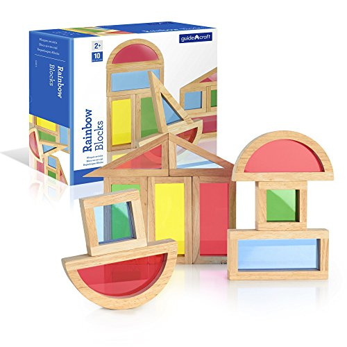 Guidecraft Rainbow Blocks Set (10 Piece) (Colored Unit Blocks compare prices)