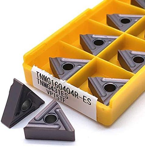 WITHOUT BRAND 10pcs TNMG160404R VP15TF / US735 Qualitäts-Karbid-Einsätze Außendrehen Werkzeuge Metalldrehwerkzeuge Werkzeugmaschinenteile Drehwerk (Größe : TNMG160404R MAVP15TF)