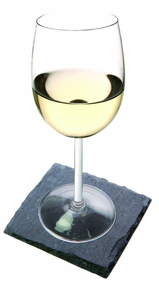 Set of 8 Slate Wine Glass Coasters