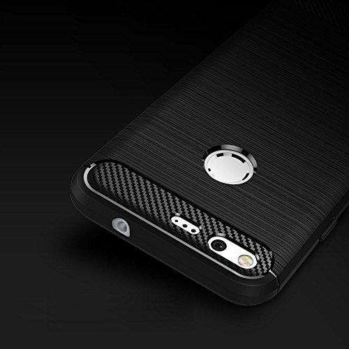 Google Pixel Case Google Pixel Skin Soft TPU Silicone Bumper Back Cover Carbon Fiber Brush Type Phone Shell Bag for Google Pixel (5.0