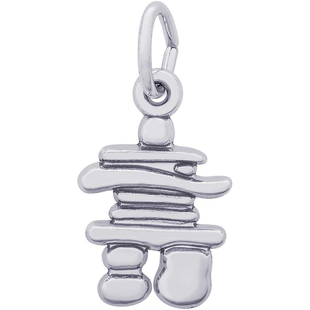 Rembrandt Charms Inukshuk Charm, 14K White Gold by Rembrandt Charms