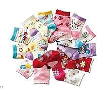 kit 12 pares de meias para crianças 6 a 12 meses meninas anti derrapante aprender a andar