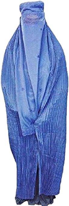 Burka/abaya afgano auténtico para mujer, color negro, azul, rojo, marrón, blanco Blue blau talla única: Amazon.es: Ropa y accesorios