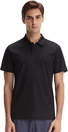 Casei Mens Polo Shirts Golf Shirts Dry Fit Moisture Wicking Polo Shirt