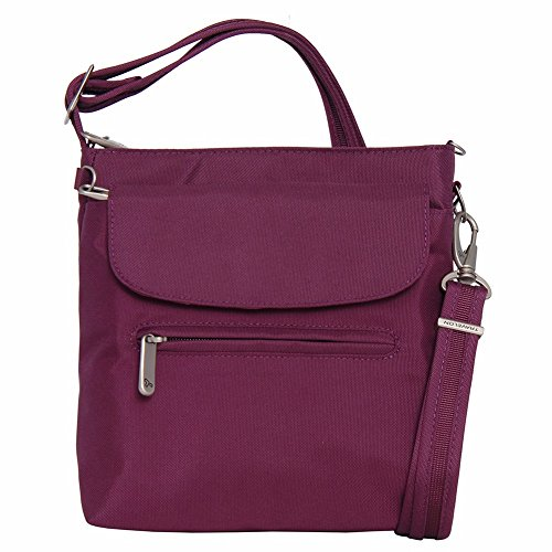 Travelon Anti-Theft Classic Mini Shoulder Bag (Plum)