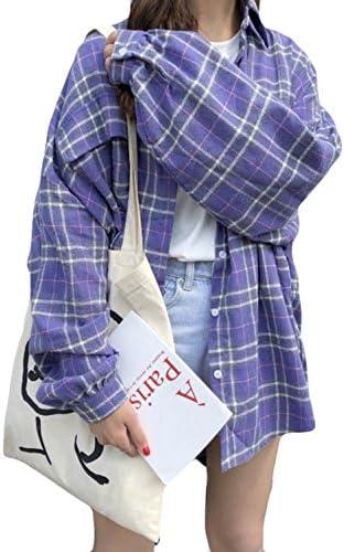 [スポンサー プロダクト]Alppv シャツ レディース 夏 チェックシャツ シンプル ワンシャツ 薄手 韓国版 ゆったり ブラウス 長袖 tシャツ ポロシャツ 日焼け止め パーティー デート