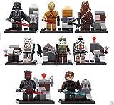 Star Wars Figures Building Bloks Sets Model Toys Minifigures Brick Toys 8 pcs/lot #198-48