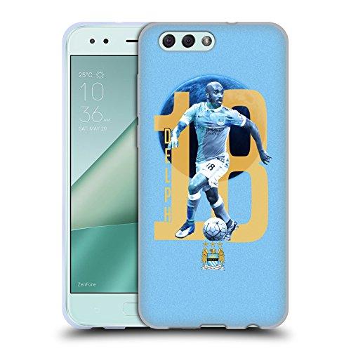 Official Manchester City Man City FC Fabian Delph Players Soft Gel Case for Zenfone 4 - Fabian 4