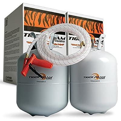 Tiger Foam Slow Rise 600 Bd/Ft Spray Foam Insulation Kit