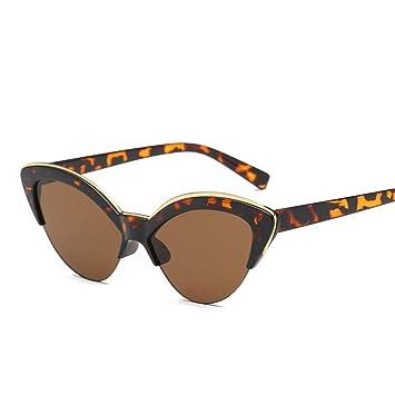 KUNHAN Gafas de sol Gafas De Sol De Medio Marco para Mujer ...