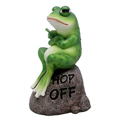Wowser Cast Resin Hop Off Angry Frog Garden Statue Figurine, 8 Inch : Garden & Outdoor