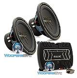 pkg Soundstream RUB.124 Pair 12' 2000W Subwoofers + Power Acoustik BAMF1-3000D Monoblock Amplifier