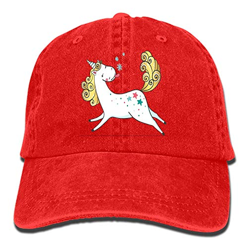 (Whenpigsfly Unicorn Adjustable Sandwich Baseball Cap Cotton Snapback Peaked hat Unicorn And10)