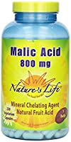 Nature's Life Malic Acid , 800 Mg, Mineral Chelating Agent, 3Pack (250 Vcap)