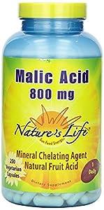 Nature's Life Malic Acid , 800 Mg, Mineral Chelating Agent, 250 Veg Capsules