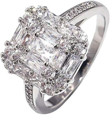 Dainzuy Womens Promise Rings Diamond Stainless Steel Engagement Wedding Rings Band Rings