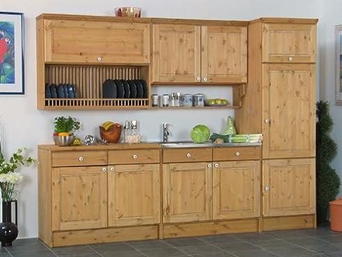 massive kiefer küchenzeile küchenblock küche 260cm bornholm