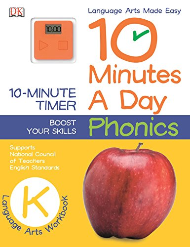 10 Minutes a Day: Phonics, Kindergarten: Supports National Council of Teachers English Standards ()