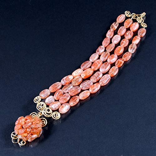 Camellia Bracelet in Sunstone and 14K Gold Filled; One of a Kind ()