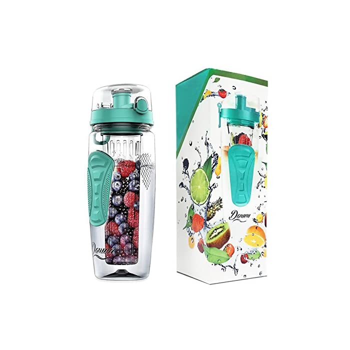14a9c4f2cc Fruit Infuser Water Bottle Large 32oz by Danum - New Full Length ...