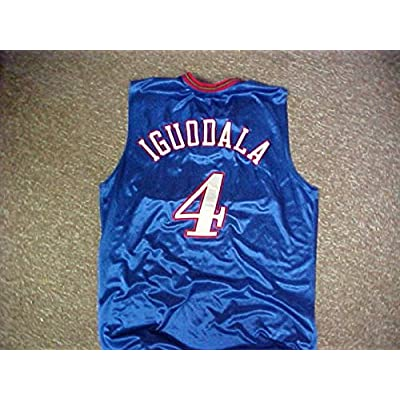 ... real andre iguodala philadelphia 76ers blue alternate game jersey 614df  462c3 d575efce3