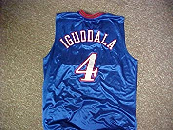 1fe5557227b ... Andre Iguodala Philadelphia 76ers Blue Alternate Game Jersey .