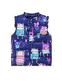 Children Baby Girls Outerwear&Coats Animal Graffiti Girls Vest Jackets