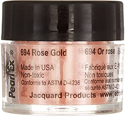 Jacquard Products JPX7694 Rose Jacquard Pearl Ex Powdered Pigment, 3g, Gold from Jacquard Products