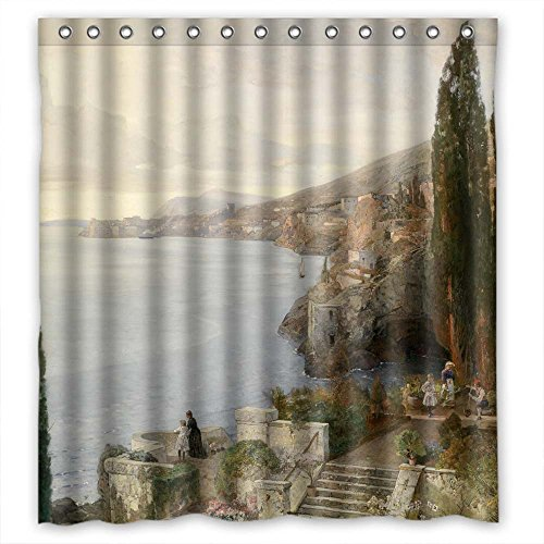 Width X Height / 66 X 72 Inches / W H 168 By 180 Cm(fabric) Nice Choice For Teens Custom Custom Valentine Couples. Easy Clean Beautiful Scenery Landscape Painting Po (Vo Toy Vinyl)