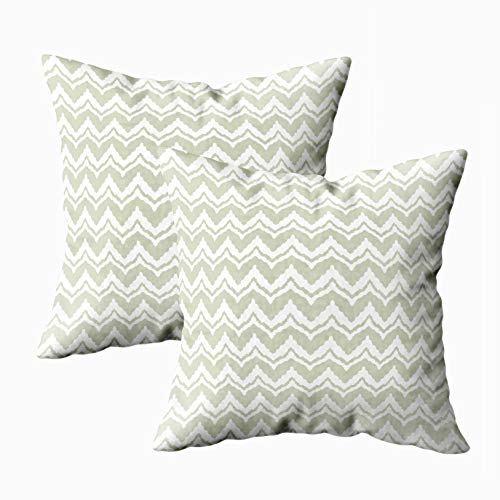 Musesh Decorative Pillow Covers, Pack of 2 Abstract Tribal Art Ethnic Pattern Folk Repeating Background Texture Geometric Print Fabric Wallpaper Sofa Decorative Pillowcase 18X18Inch Pillow Covers]()