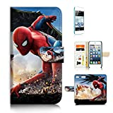 (For iPod Touch 5 6/iTouch 5 6) Flip Wallet Case Cover & Screen Protector Bundle - A21310 Spiderman