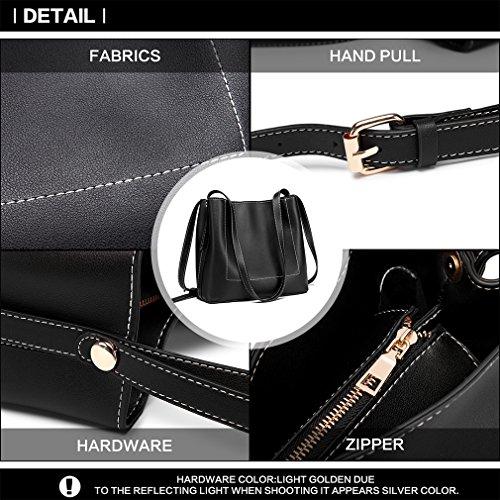 Women Shoulder 1858 Hobos Handbag bk Leather Bag Shopper Bucket Pu Miss Holiday Bag Lulu zw7Inqt