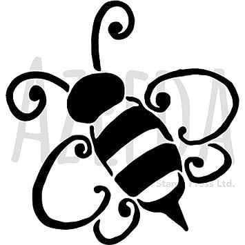 Azeeda A5 Bumble Bee Wall Stencil Template Ws00020236 Amazon