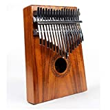 Shirleyle 17 Keys Kalimba African Mbira Sanza Wood Thumb Piano Standard C Tune Finger Piano Metal Tines with Tuning Hammer Kids Musical Instrument Gifts for Music Lover Beginners