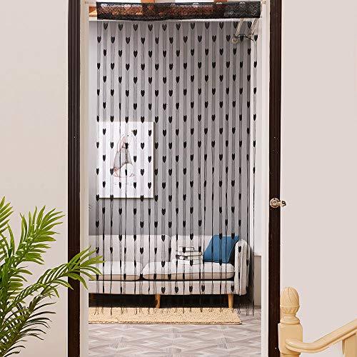 ☀ Dergo ☀ 100x200cm Love Heart String Curtain Window Door Divider Sheer Curtain Valance