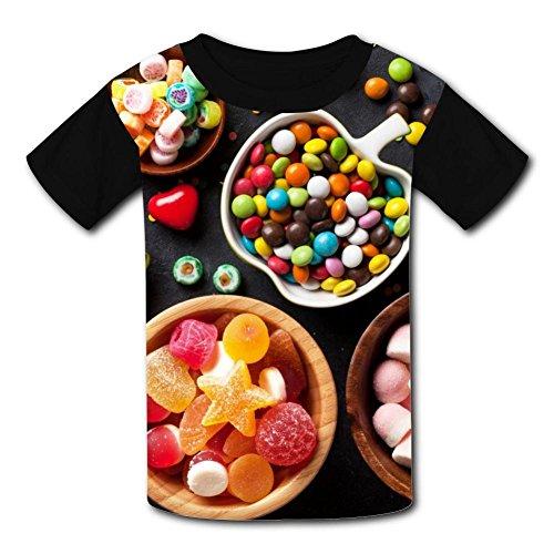 Robadyme Candy Colors T-Shirt Short Sleeve Kids Tee Shirt Bl