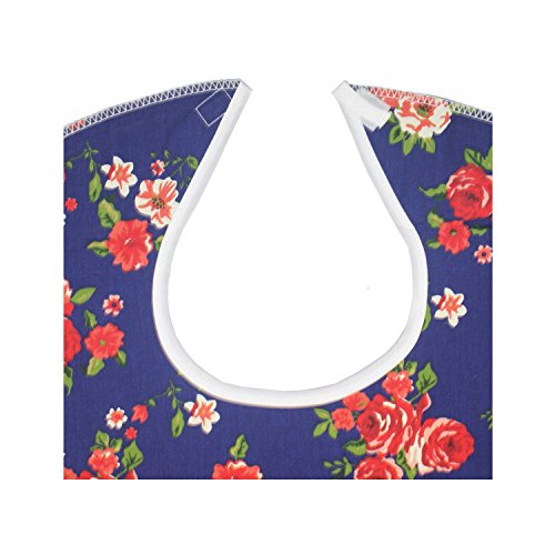 RMS 3 Pack Adult Bib Washable Reusable Waterproof Clothing Protector with Vinyl Backing 34''X18'' (Butterfly/Blue Rose/Heritage) by RMS Royal Medical Solutions, Inc. (Image #6)