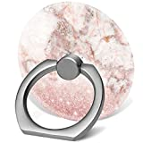 360°Rotation Grip Mobile Phone Finger Ring Holder for All Smartphone and Tablets with Car Mount Stand - Rose Gold Glitter