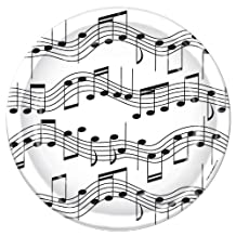 Beistle Musical Notes Plate, 7-Inch