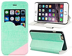 Stylish Faux Leather Flip Case with Mount Stand Function for 5.5'' iPhone 6 Plus (Green)