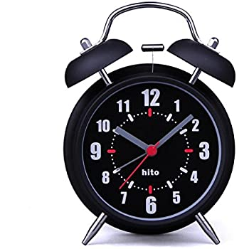 Amazon Com Hito 4 Quot Black Silent Alarm Clock Battery